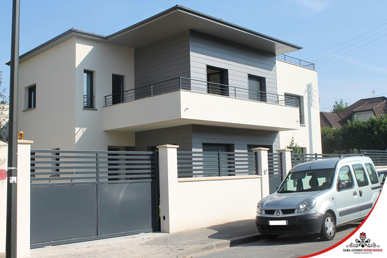 cloture villa moderne